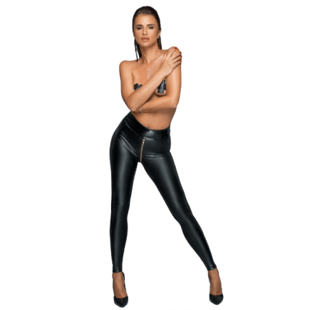 Legging Wetlook avec Zip Jade