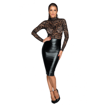 Robe Mi-Longue Dentelle Wetlook Julia