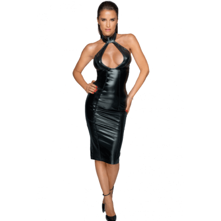 Robe Mi-Longue Wetlook Fanny