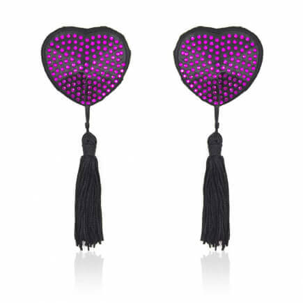 Nippies Coeur Paillettes Violet - Be Bondage