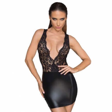 Robe Wetlook Dentelle Bonny